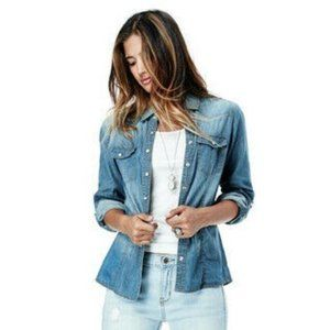 Lovestitch Frisco Washed Denim Long Sleeve Shirt